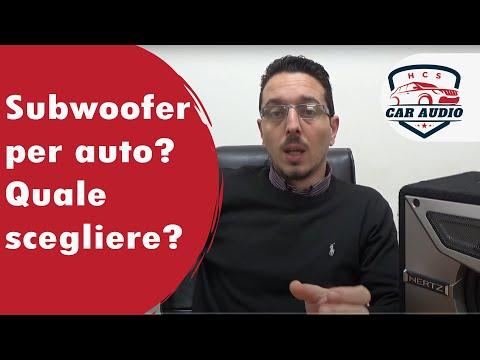 Subwoofer auto, chiariamo i concetti di base insieme.