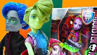 Новенькая в школе Монстер Хай. Мультики для девочек с куклами