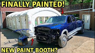 PAINT BOOTH:https://mobileenvironmentalsolutions.com/how-to-info/ What an amazing invention!!! An inflatable paint booth is a much cheaper version of an actual paint booth and provide almost the same results. This Dodge Ram 3500 conversion has made to the paint stage and we couldn't be happier! We have a few more epic things planned for this beast thats going to make it even more awesome. We are just steps away from having this truck 100% complete! Thanks For Watching!!! -GOONZQUAD NEW MERCH!!!:  https://goonzquad.com  -Instagram: https://www.instagram.com/goonzquad/  -Email: goonzquadteam@gmail.com  -P.O. Box 37   Rossville,GA 30741  -Music Credit:   Song: AWN - We Know Music provided by Vlog No Copyright Music. Creative Commons - Attribution-ShareAlike 3.0 Unported Video Link: https://youtu.be/9jw3QO49pFo  Song: Markvard - Spring Music provided by Vlog No Copyright Music. Video Link: https://youtu.be/vmrQyJk5sec  Song: MusicbyAden - Happy Music provided by Vlog No Copyright Music. Creative Commons - Attribution-ShareAlike 3.0 Unported Video Link: https://youtu.be/J4GpNOmYlEk  Song: DREK'S - Clouds Music provided by Vlog No Copyright Music. Video Link: https://youtu.be/LIBNMiLM8q8  Blue by Roa Music https://soundcloud.com/roa_music1031 Creative Commons — Attribution 3.0 Unported  — CC BY 3.0  Free Download / Stream: https://bit.ly/blue-roa-music  Music promoted by Audio Library https://youtu.be/QaDf_k7rdKQ   Song: Dipcrusher - Islands (Vlog No Copyright Music) Music provided by Vlog No Copyright Music. Video Link: https://youtu.be/CpFneq3zIt4  Lioness (Instrumental) by DayFox https://soundcloud.com/dayfox Free Download / Stream: https://bit.ly/lioness-instrumental Music promoted by Audio Library https://youtu.be/ZATMh49j49M  Song: Atch - Places Music provided by Vlog No Copyright Music. Creative Commons - Attribution 3.0 Unported Video Link: https://youtu.be/QFqejLB4-q8  Song: Atch - Traveller Music provided by Vlog No Copyright Music. Creative Commons - Attributio