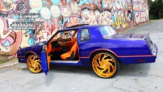 WhipAddict: Deck's Kandy Cobalt Blue Chevy Monte Carlo SS on All Gold SD Forged 24s! Custom Interior