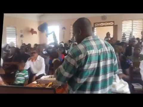 Jamaica Singing Cowboy,Performing at Steven's run Shiloh Apostolic Church