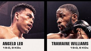 ANGELO LEO VS TRAMAINE WILLIAMS LIVE FIGHT REACTION/COMMENTARY