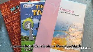 Homeschool Curriculum Review - Math