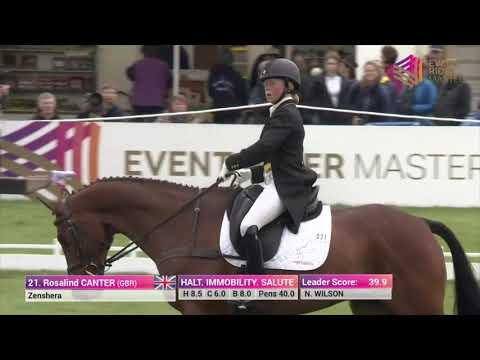 Ros Canter and Zenshera Dressage at Leg 1 Chatsworth House 2017