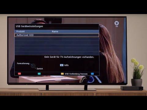 Panasonic Tutorial: 4K UHD TV - Einrichten einer externen Festplatte