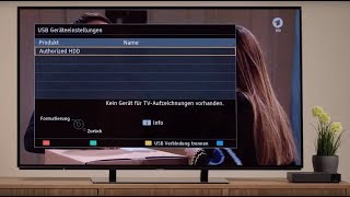 Einrichten einer externen Festplatte bei 4K UHD TV | Tutorial | Panasonic Academy