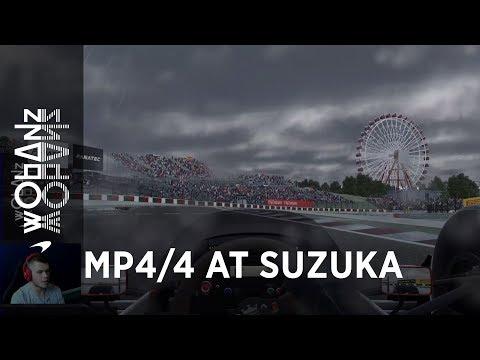 Rudy van Buren Senna tribute lap | Suzuka 1988