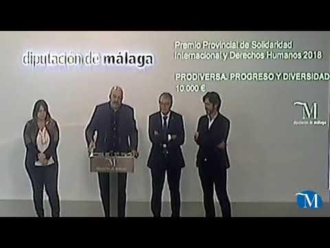 Entrega del Premio Provincial de Solidaridad Internacional y Derechos Humanos 2018 de la Diputación