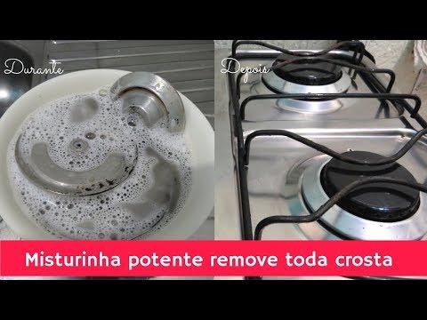 Limpar chapinha de fogão