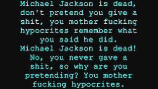 Jon Lajoie-Michael Jackson is dead  [with lyrics]