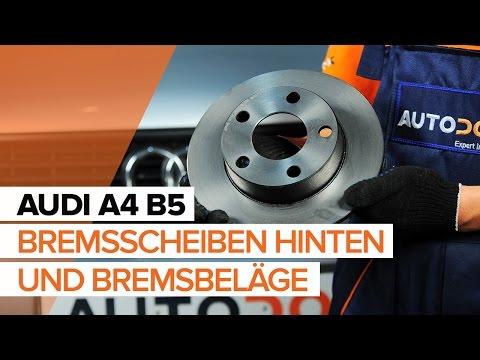 Wie AUDI A4 B5 Bremssattel hinten und Bremsbeläge hinten wechseln TUTORIAL | AUTODOC