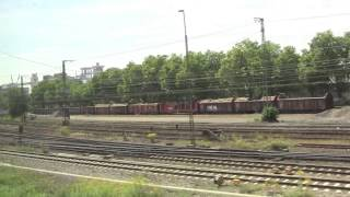 preview picture of video 'Wiesbaden Hbf to Mainz-Kastel, Views from the S-Bahn S1, Hesse, Germany - 8th August, 2014'