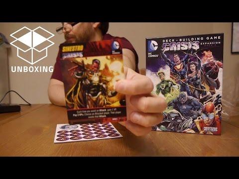 Unboxing: DC Comics Deck Building Game: Crisis Expansion Pack 3