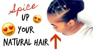 How To: Spice Up Your Natural Hair! | TRENDY Rubber Band Protective Hairstyle! | Kinzey Rae