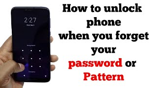 How to unlock Android phones when forgot Password