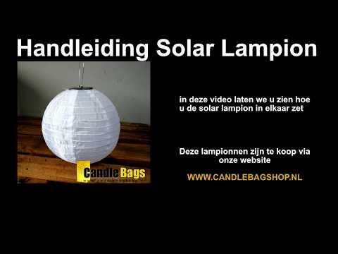 Solar Lampion opbouwen - Mooie lampionnen van 30cm op zonne energie met SMD LED