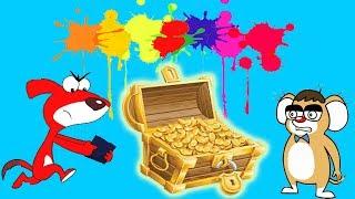 Rat-A-Tat  ' Treasure Search Colors Party ★★★ 60 Minute ᴴᴰ '  Chotoonz Kids Funny Cartoon Videos