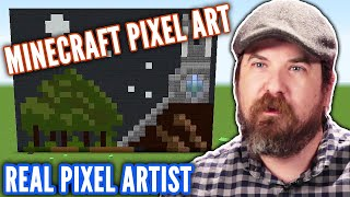 Real Artist Designs Pixel Art in Minecraft • Professionals Play