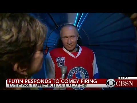WATCH: Putin reacts to Trump firing FBI Director James Comey