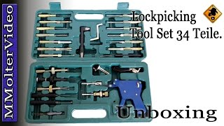 Lockpicking Tool  34pcs AML020127 Werkzeug Satz / Unboxing