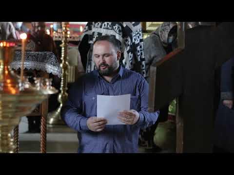 Регент архиерейского мужского хора Геннадий Горохов исполнил стихиру «Днесь висит на древе…»