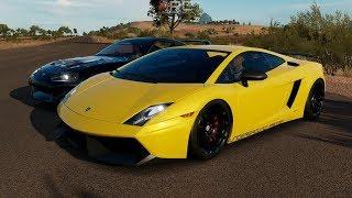 Forza Horizon 3:Highway King Battle - Stage 1 Twin Turbo Gallardo vs Big Turbo Supra