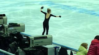 Elena Radionova, SP at practice, Russian Nationals 2014