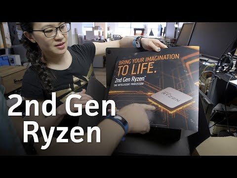 2nd Gen Ryzen 2600X and 2700X review kit unboxing