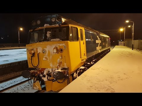 BR Blue 50049 on snowplough duties at Kettering 1st March 20…