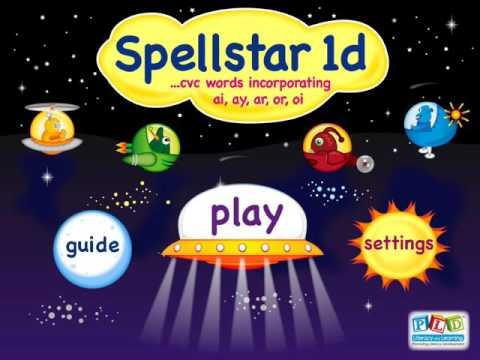 Spell star 1d - ar, or, ai, ay, oi words