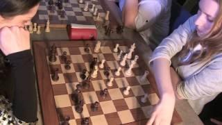 2017-03-07 WFM Eryshkanova - GM Kosteniuk Blndes vs. Brunettes Match 7