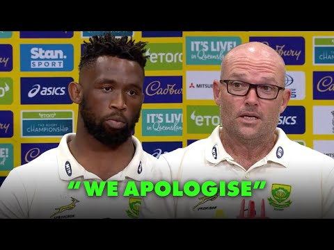 Springboks apologise to South Africans after their second Rugby Championship loss to Australia