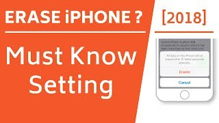 Erase iPhone after 10 failed passcode attempts! [Must Know Setting]