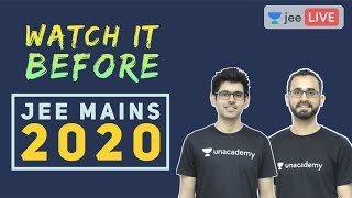 How to Attempt JEE Main 2020 | D - Day | JEE Preparation | Unacademy JEE | Namo Sir | Paaras Sir