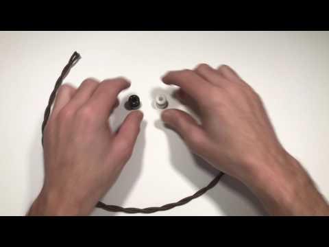 Aisladores porcelana cable trenzado
