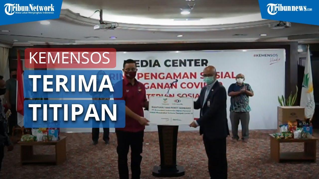 Kemensos Terima Titipan 1000 Bantuan Sembako dari PT RE Asuransi Indonesia Utama