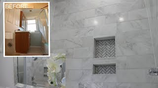 Bathroom Reveal ! Bathed In Marble