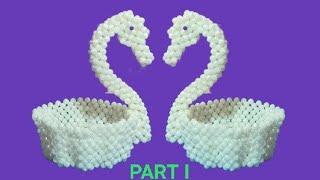 How To Make Beaded Swan/duck |beads Crafts|পুতির রাজহাঁস||beaded Showpiece