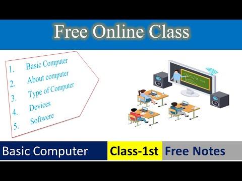 1st Class (Basic Computer)| Basic Computer | Free Online Computer Class | Computer Class in Hindi |