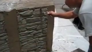 Wall Plaster Sculpture using Flex C Ment