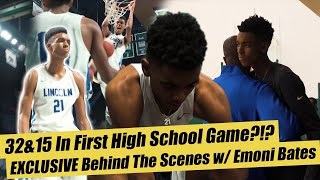 Emoni Bates Drops 32&15 In FIRST HIGH SCHOOL GAME!! EXCLUSIVE Behind the Scenes!