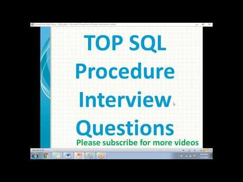 SQL Procedure Interview Questions - Training2SQL MSBI