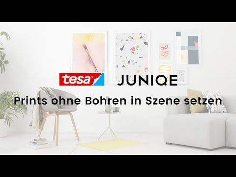 Wandbilder ohne Bohren in Szene setzen - 5 Ideen zum Poster-Aufhängen   JUNIQE x tesa Tutorial Video