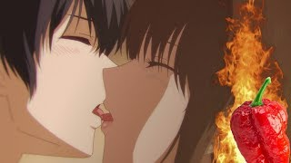 describing domestic girlfriend's spicy plot after eating a ghost pepper