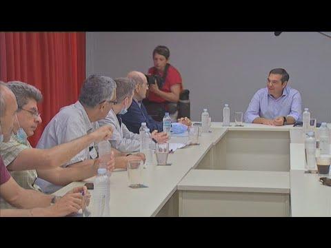 Συνάντηση του προέδρου του ΣΥΡΙΖΑ, Αλέξη Τσίπρα, με την ΟΙΕΛΕ