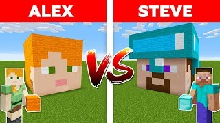 MINECRAFT - ALEX vs STEVE! DIAMOND HOUSE BATTLE / Minecraft Animation #4