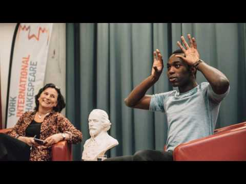 Hamlet Actor Paapa Essiedu visits York International Shakespeare Festival