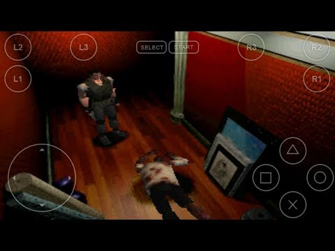 Android PlayStation1 PS1 Emulator FPse Biohazard 2 Game Play