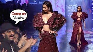 Arjun Kapoor Cheers For Wife Malaika Arora Khan During Ramp Walk At Lakme Fashion Show 2019