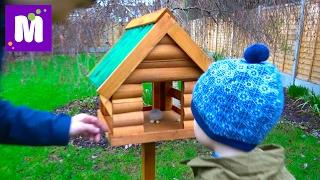 ВЛОГ. Домик для белочек и птичек / Куча посылок / Вещи Макса и Кати